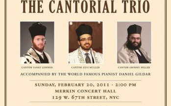 "Charlie Bernhaut's ""Cantors Showcase"" featuring The Cantorial Trio"