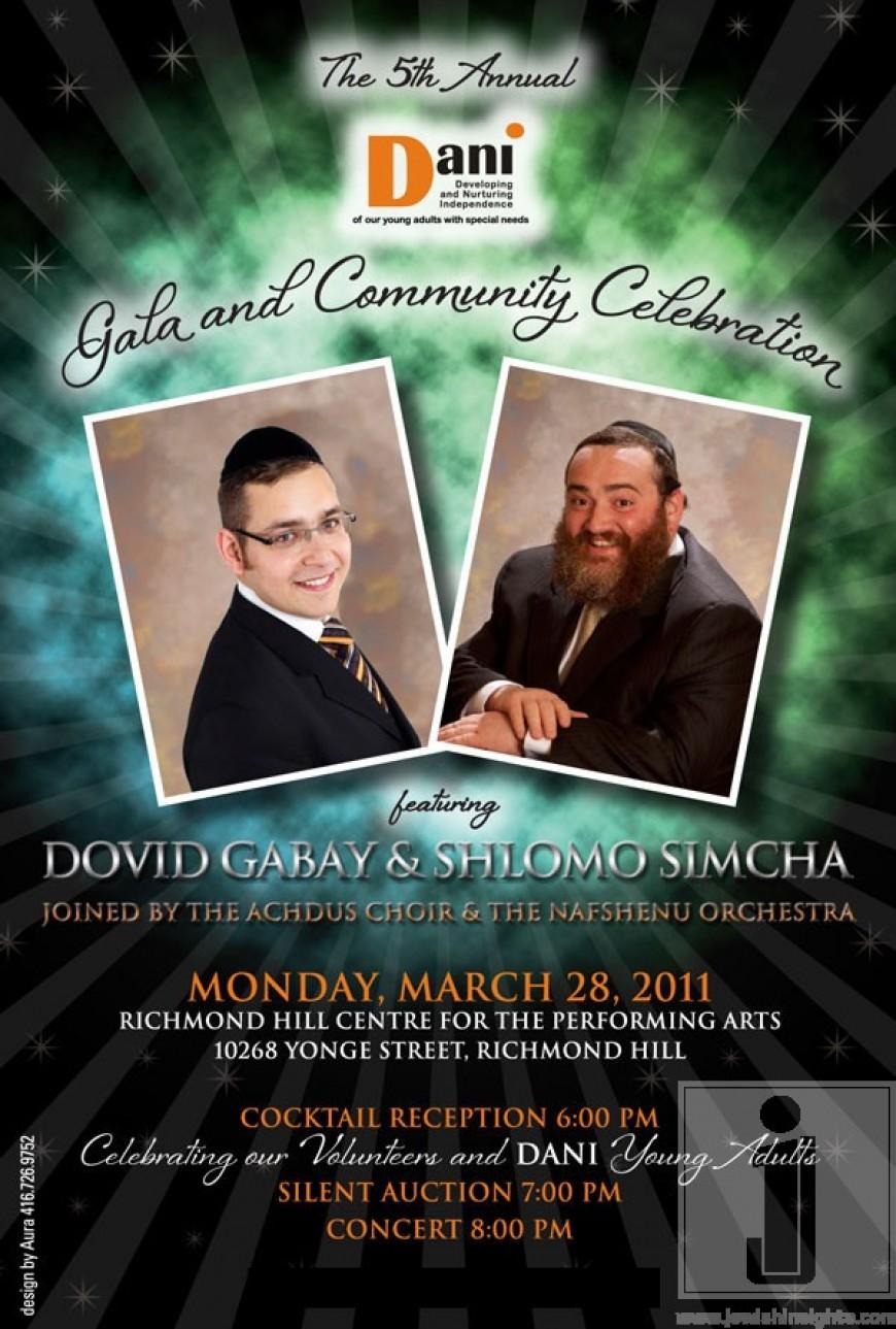 The 5th Annual Dani Gala and Community Celebration featuring Dovid Gabay & Shlomo Simcha
