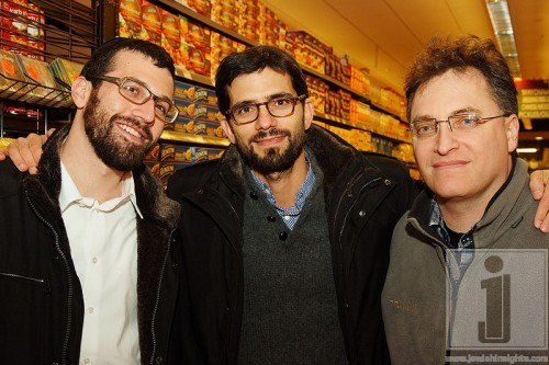 Pomegranate's Matis Swerdloff, Producer Chaim Marcus and Director Larry Guterman