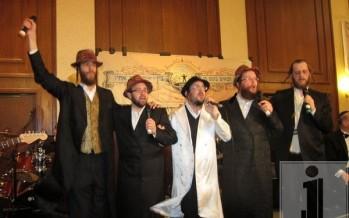 Beri Weber, Srully Williger, Lipa Schmeltzer, Shloime Daskal & Shimmy Engel at the Bein Ish Ubein Uchiv Melava Malka