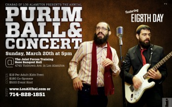 Chabad of Los Alamitos presents the annual Purim Ball & Concert featuring 8th Day