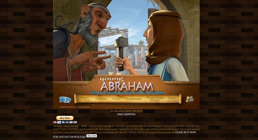 Introducing the future of Jewish Childrens DVD's: Young Abraham
