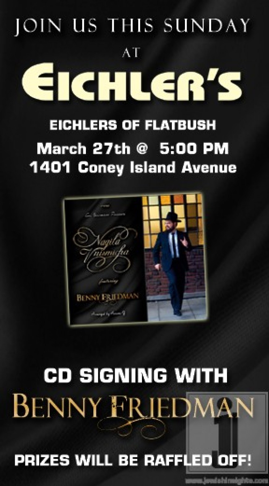CD SIGNING AT EICHLERS FLATBUSH WITH BENNY FRIEDMAN