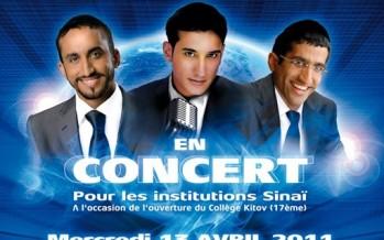 3 Brothers performing together Chaim Israel, Itzik Eshel & Avishai at the Casino de Paris