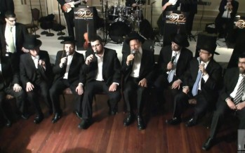 Mordechai Ben David, Shloime Dachs, Yeedle, Yumi Lowy and Shira Choir At the C.C.H.F. Dinner