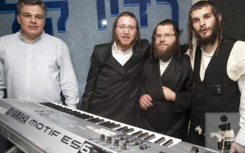 "Kumzits at Radio Kol Chai in memory of Rabbi Moshe Goldman z""l with Yossi Eisenthal & Yossi Gil on Motzash Musicali"