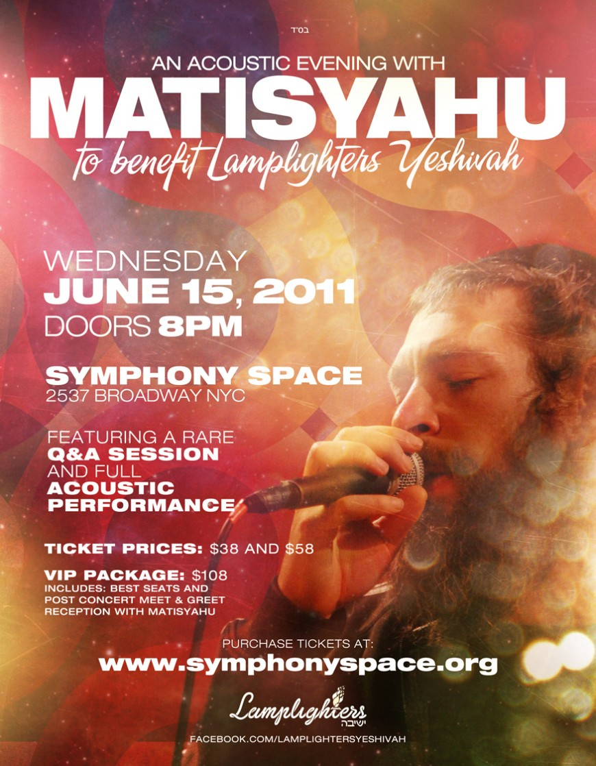 Acoustic Concert With Matisyahu AT Symphony Space
