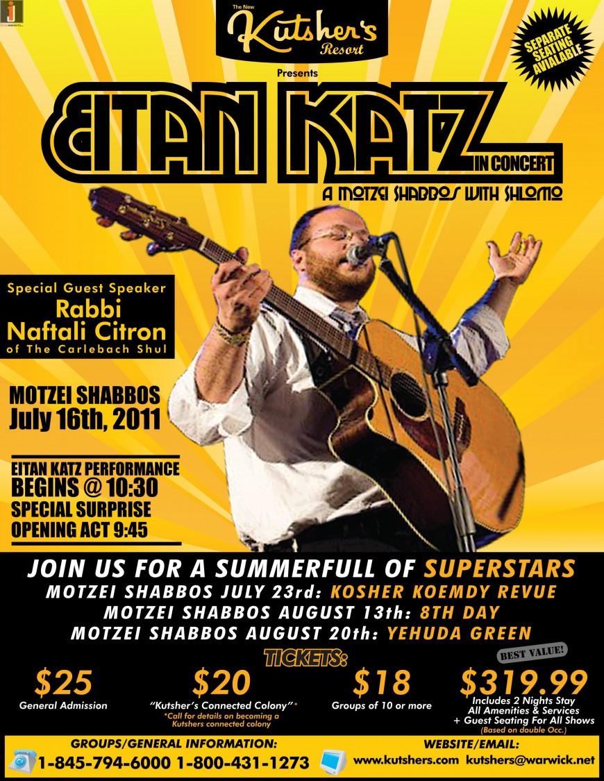 Kutshers Resort presents: Eitan Katz – A Motzei Shabbos With Shlomo