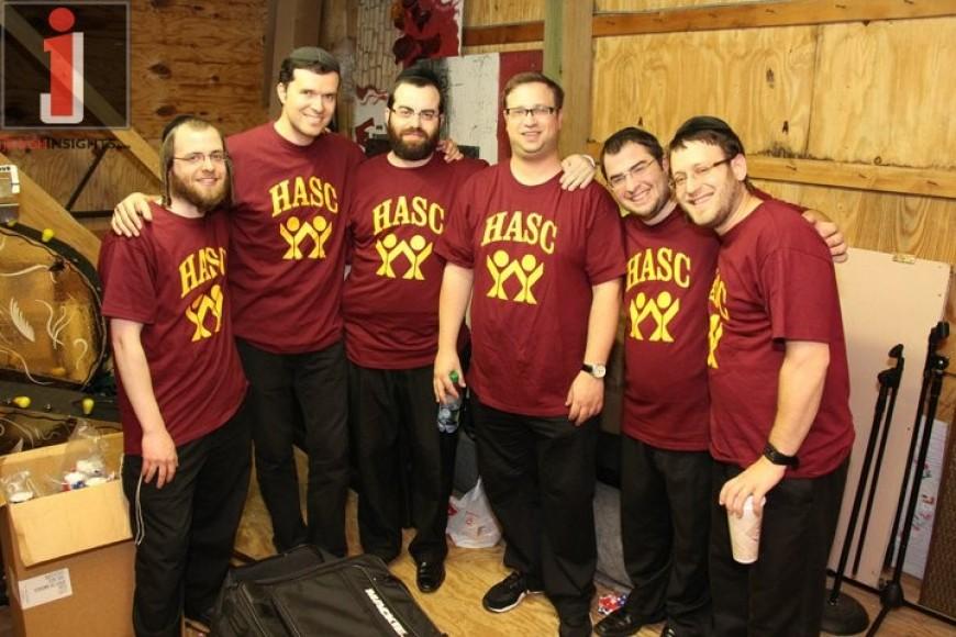 Moishy Fried, Ohad!, Yanky Katina, Gershon Freishtat, Yaakov Zeines & Avrumi Schreiber at Camp HASC