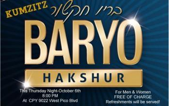 TONIGHT – BARYO Kumzits in LA