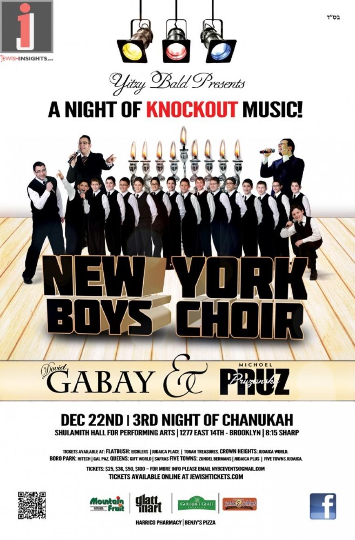 Yitzy Bald Presents New York Boys Choir, Dovid Gabay & Michoel Pruzansky!