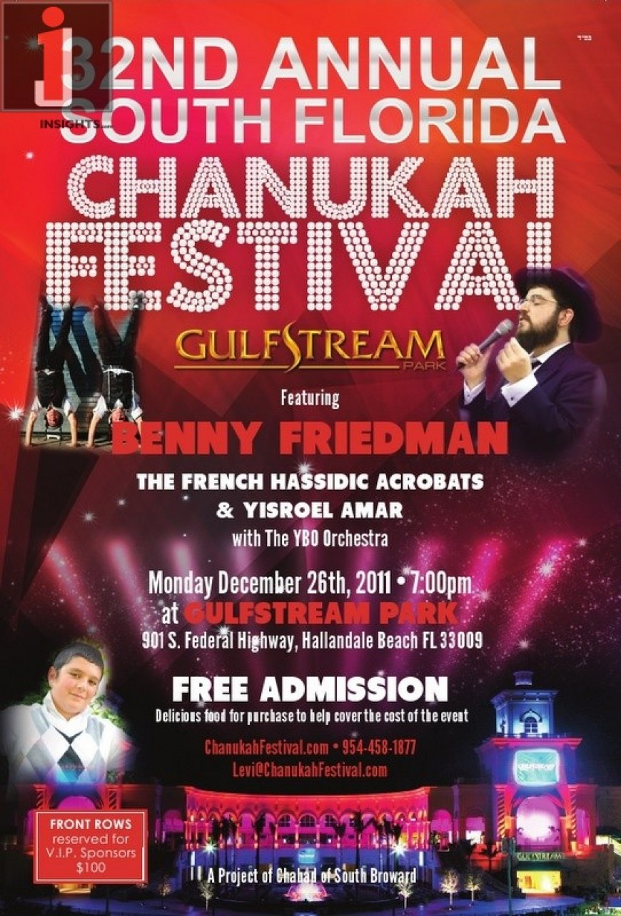 Presenting the 32nd Annual South Florida CHANUKAH FESTIVAL