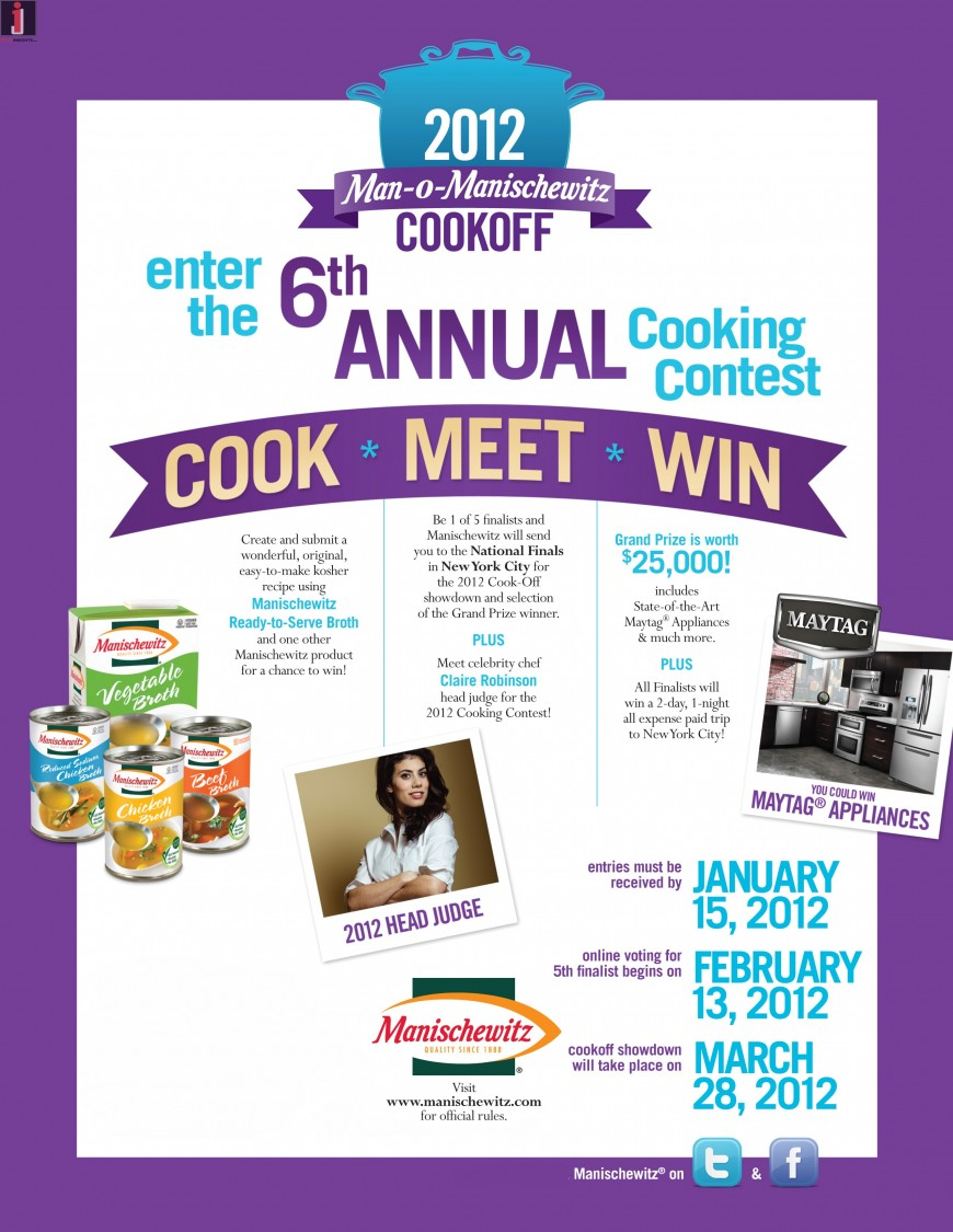 New MANISCHEWITZ Products for Holidays and Annual COOK-OFF Contest!