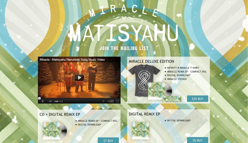 MATISYAHU Miracle Remix EP – Out Today