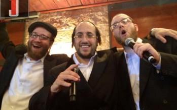Yoely Lebovits, Lipa and Yumi Lowy having fun at a wedding