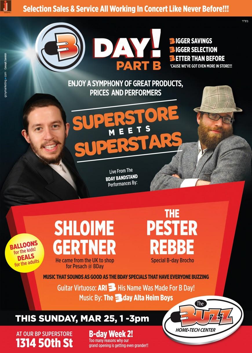 BDAY CONCERT with SHLOIME GERTNER & PESTER REBBE