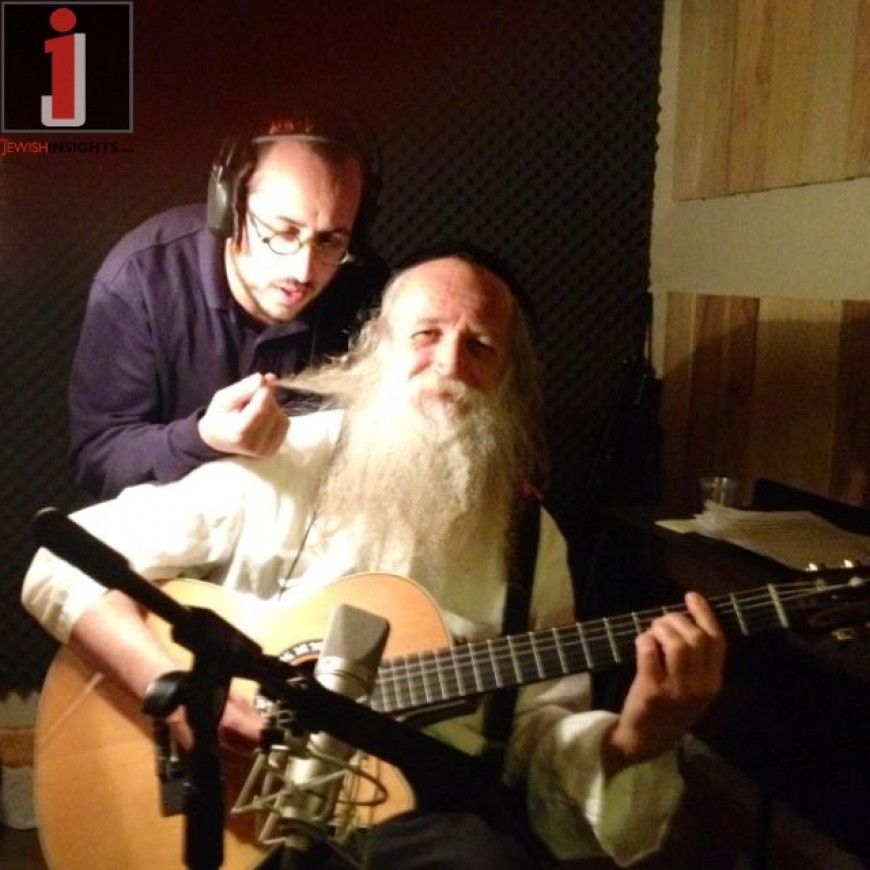 Lipa & Yitzchak Fuchs working in the studio