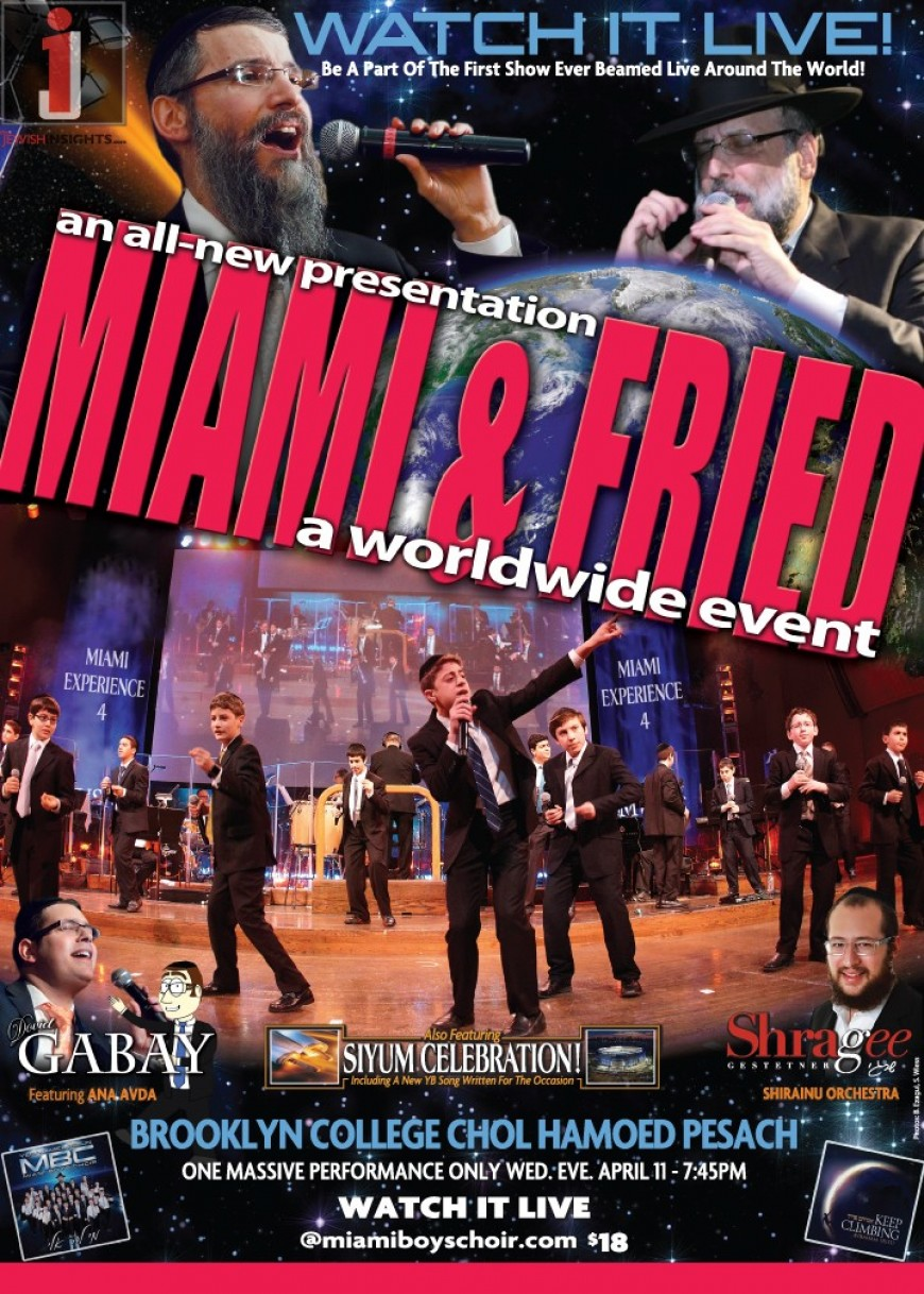 TONIGHT: MIAMI & FRIED WATCH IT LIVE' EVENT-NOW AVAILABLE FOR NJ TOO!
