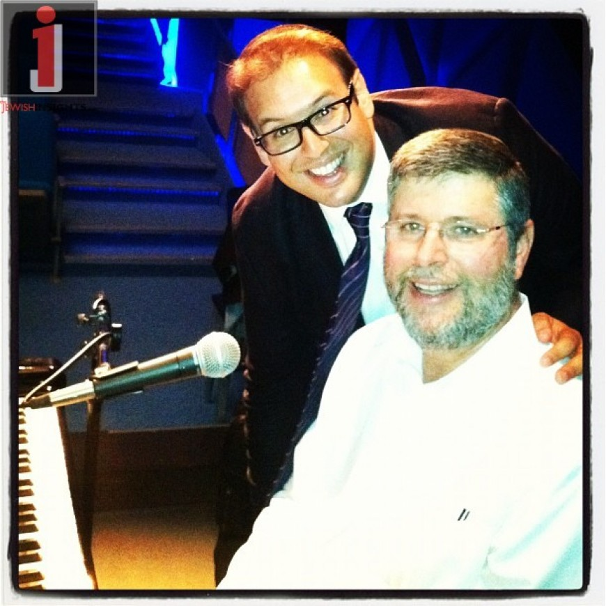 Eli Schwebel performing with Abie Rotenberg at a private event as D'veykus