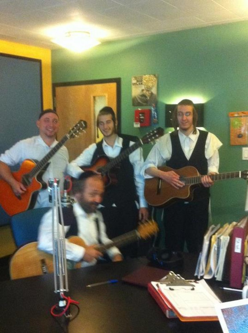 Nachum Segal Hosts Yehuda Green Live at JM in the AM