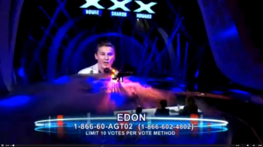 AMERICA'S GOT TALENT & FRUM JEWS NOW HAVE EDON PINCHOT