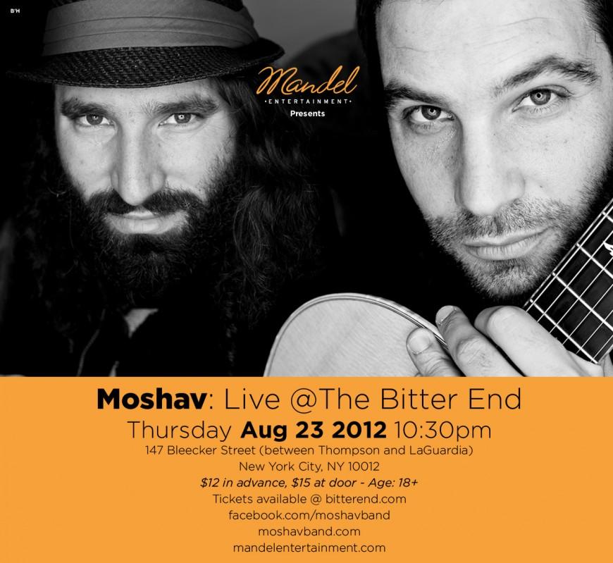 Mandel Entertainment presents MOSHAV: Live @ the Bitter End