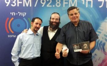 Shloime Taussig Celebrates His New Album in Radio Kol Chai With Yossi Eisenthal – Photos + Audio