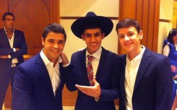 Itzik Dadya, Meydad Tasa & Yonatan Shainfeld at a Simcha