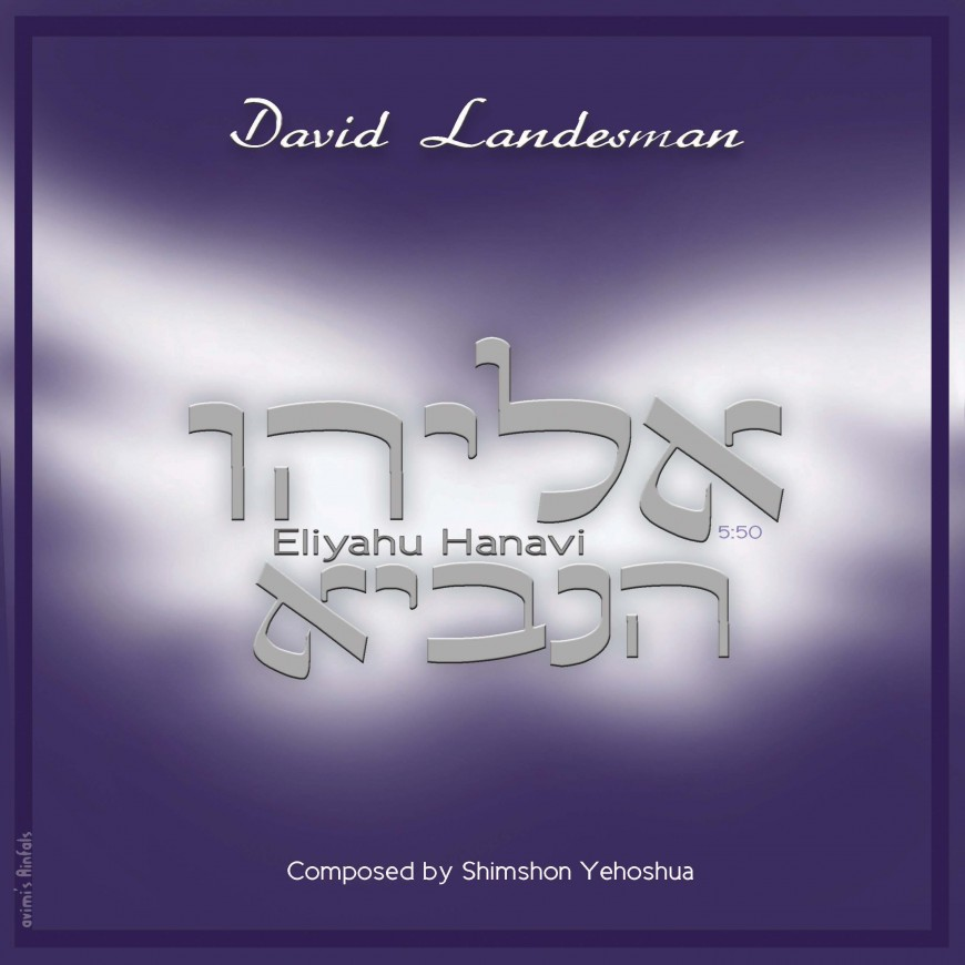 Eliyahu Shemesh: Eliyahu Hanavi: The Debut Single From David Landesman
