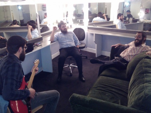 8th Day & Benny Friedman backstage at the CHabad telethon