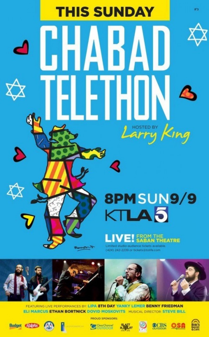 32nd annual Chabad Telethon Videos Including; 8th Day, Benny Friedman, Yanky Lemmer, Eli Marcus and more