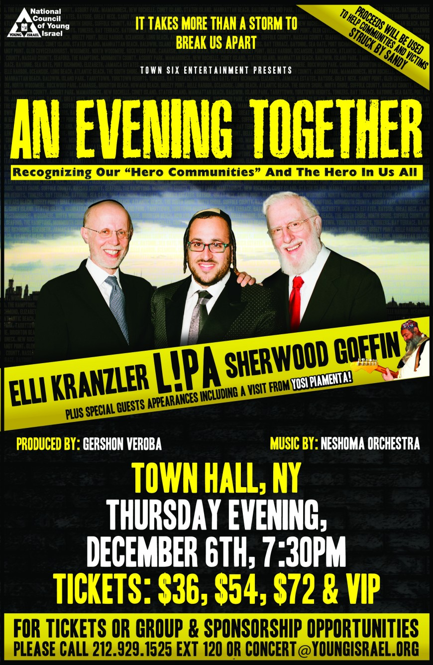 NCYI Presents: AN EVENING TOGETHER with LIPA, Elli Kranzler, Sherwood Goffin, Yosi Piamenta & More