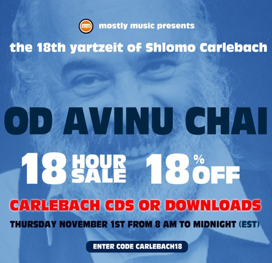 18% for 18 Hours on R' Shlomo's 18th Yartzeit!