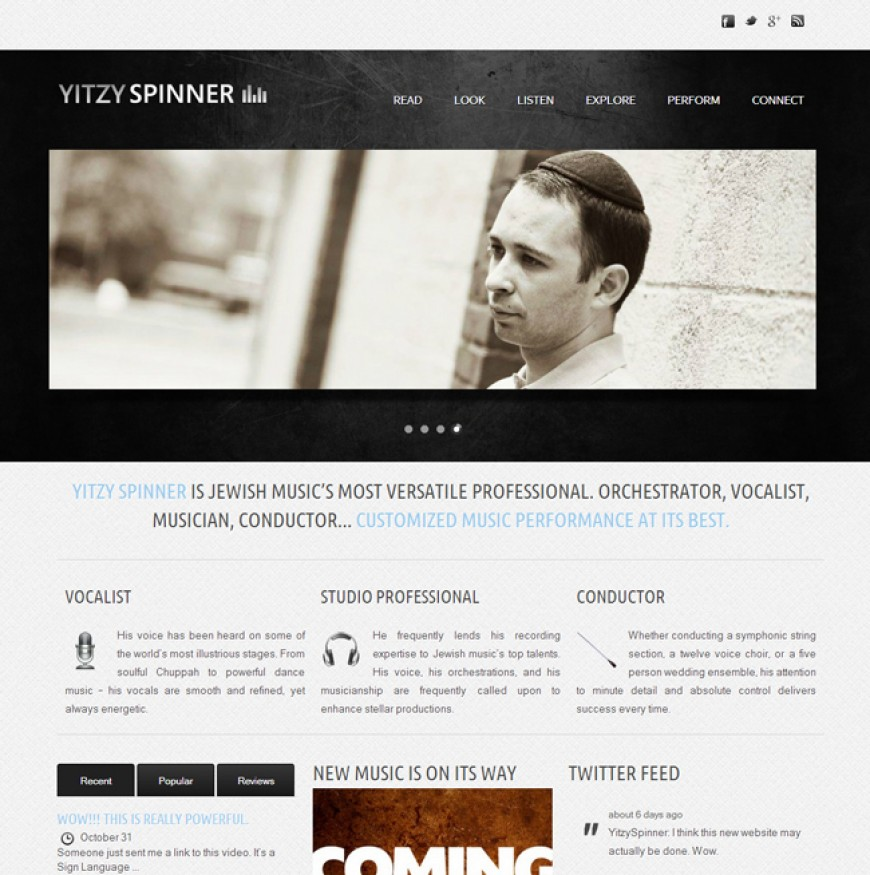 Yitzy Spinner Launches New Website!