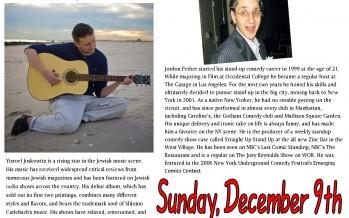 Chanuka Concert featuring Yisroel Juskowitz and Hillel Kapnick
