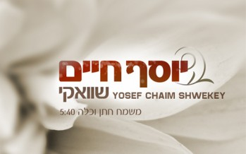 Yosef Chaim Shwekey To Release New Single