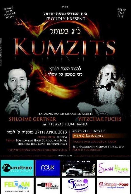Lag BaOmer Bonfire & Kumzits with Shloime Gertner & Yitzchak Fuchs in London: