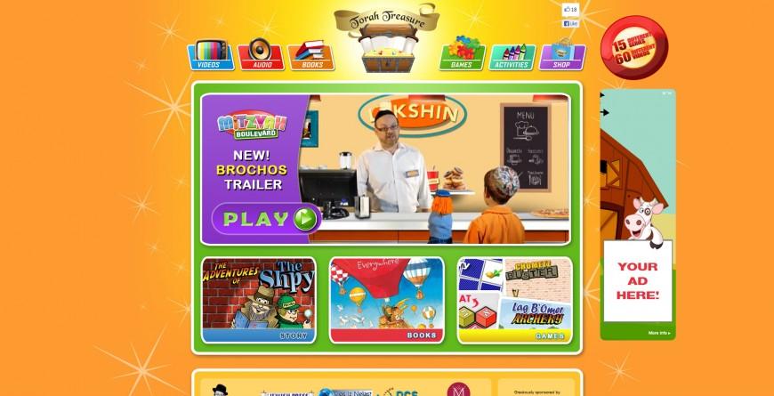 TorahTreasures.com website for kids released!