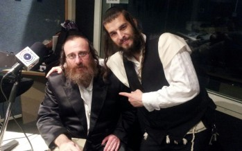 David Kleiger with Isaac Honig in Radio Kol Chai