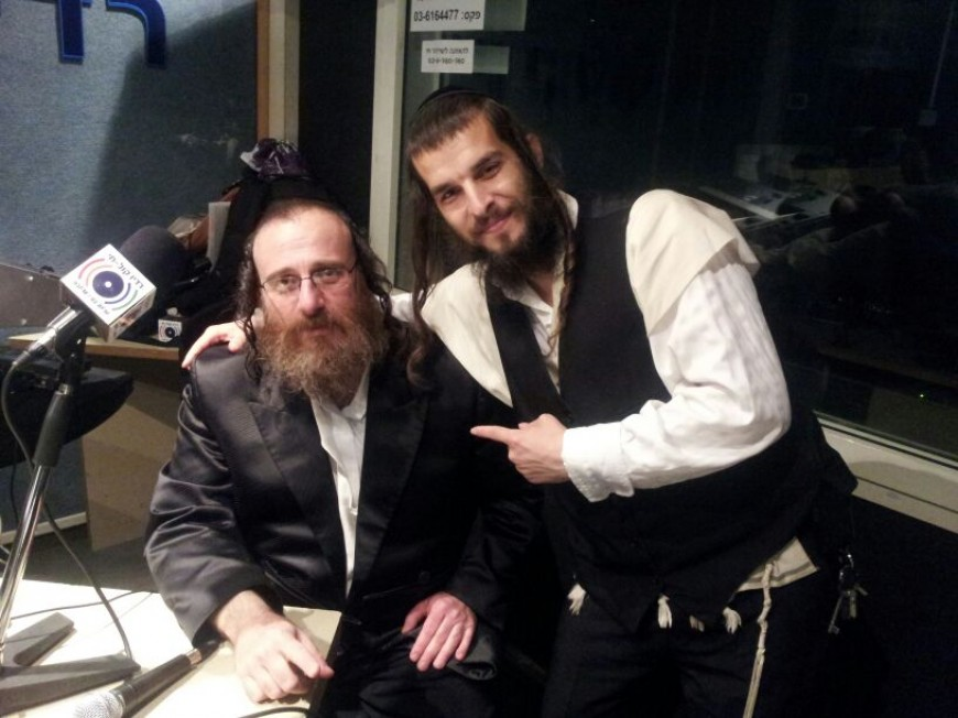 David Kleiger with Isaac Honig in Radio Kol Chai