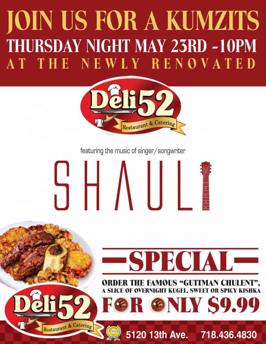 A Kumzits With SHAULI @ DELI 52