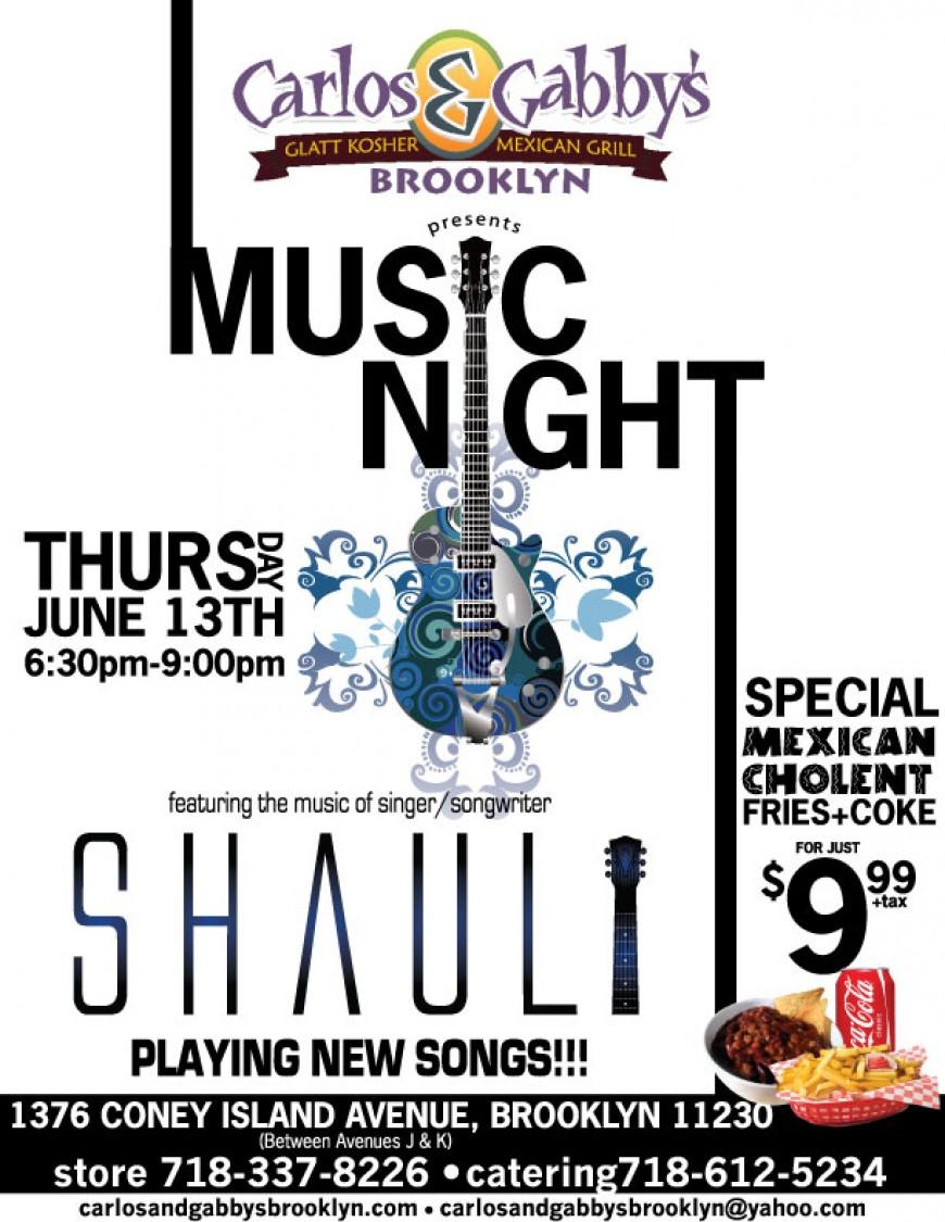 Carlos & Gabby's BROOKLYN presents: MUSIC NIGHT with SHAULI