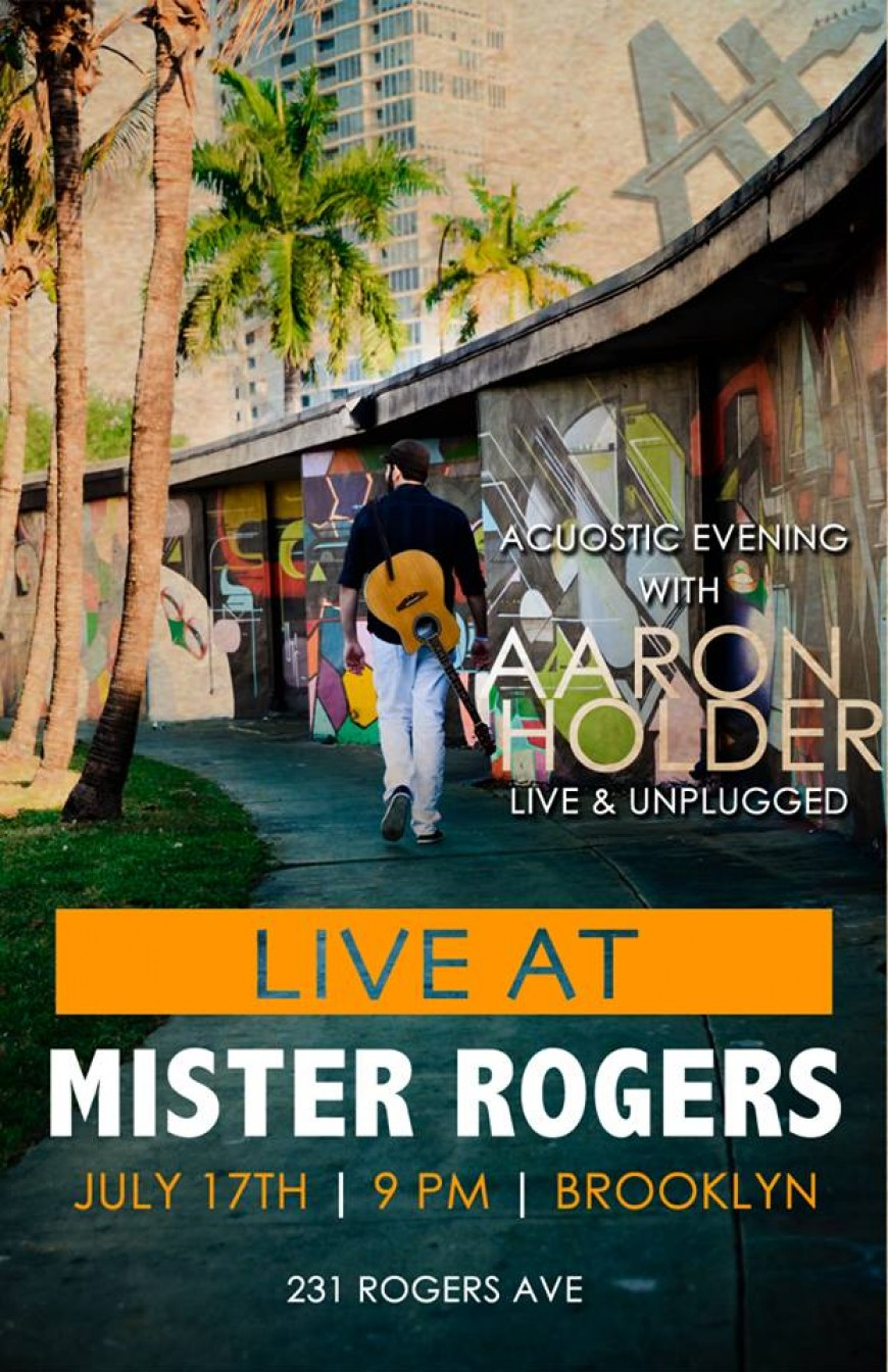 Acuostic Evening with AARON HOLDER Live & Unplugged