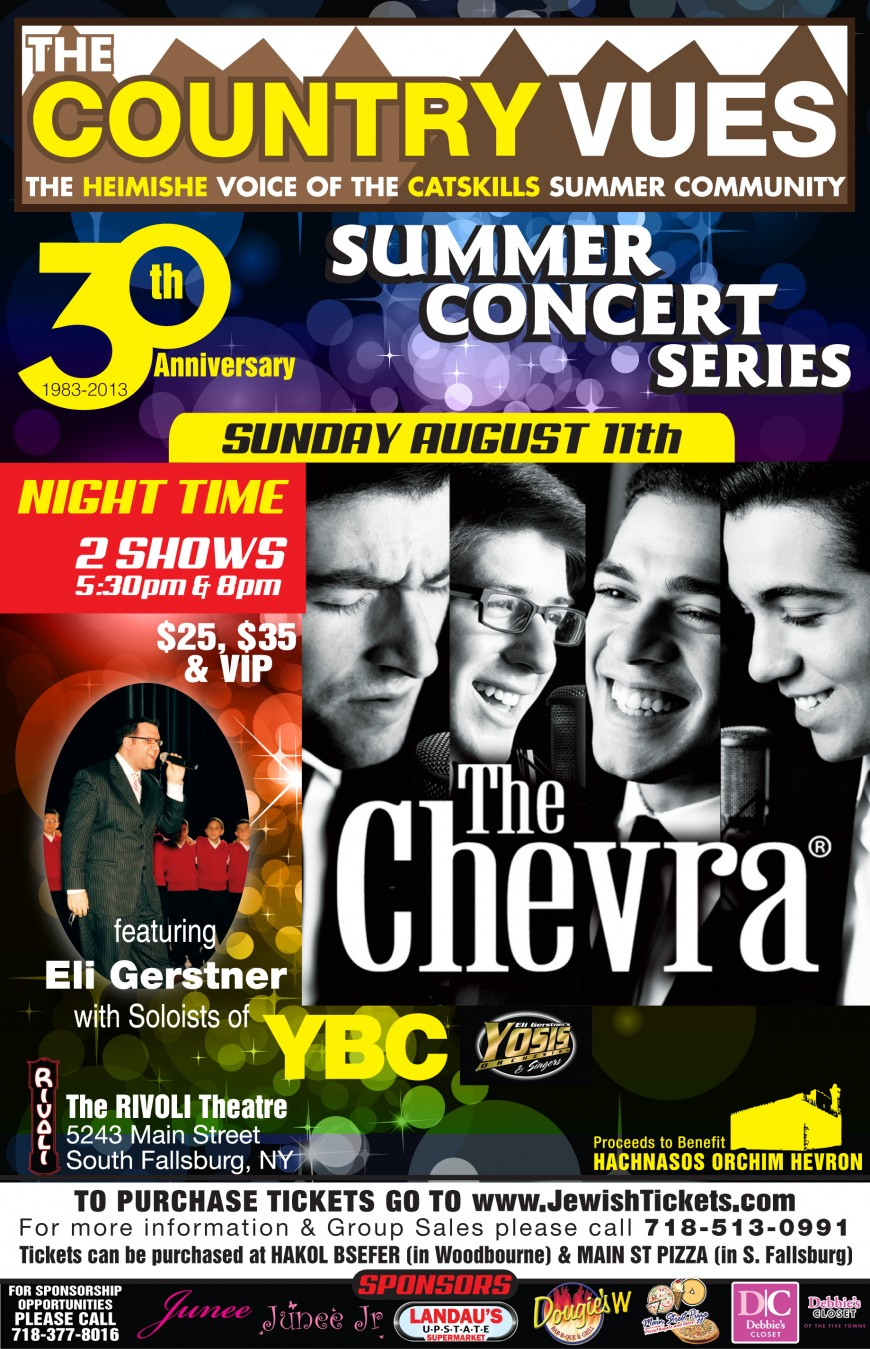 The Country Vues presents The CHEVRA, Eli Gerstner + Soloists of YBC