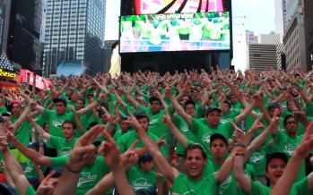 Wall of Fame – Camp Simcha Cancer Warriors at Times Square