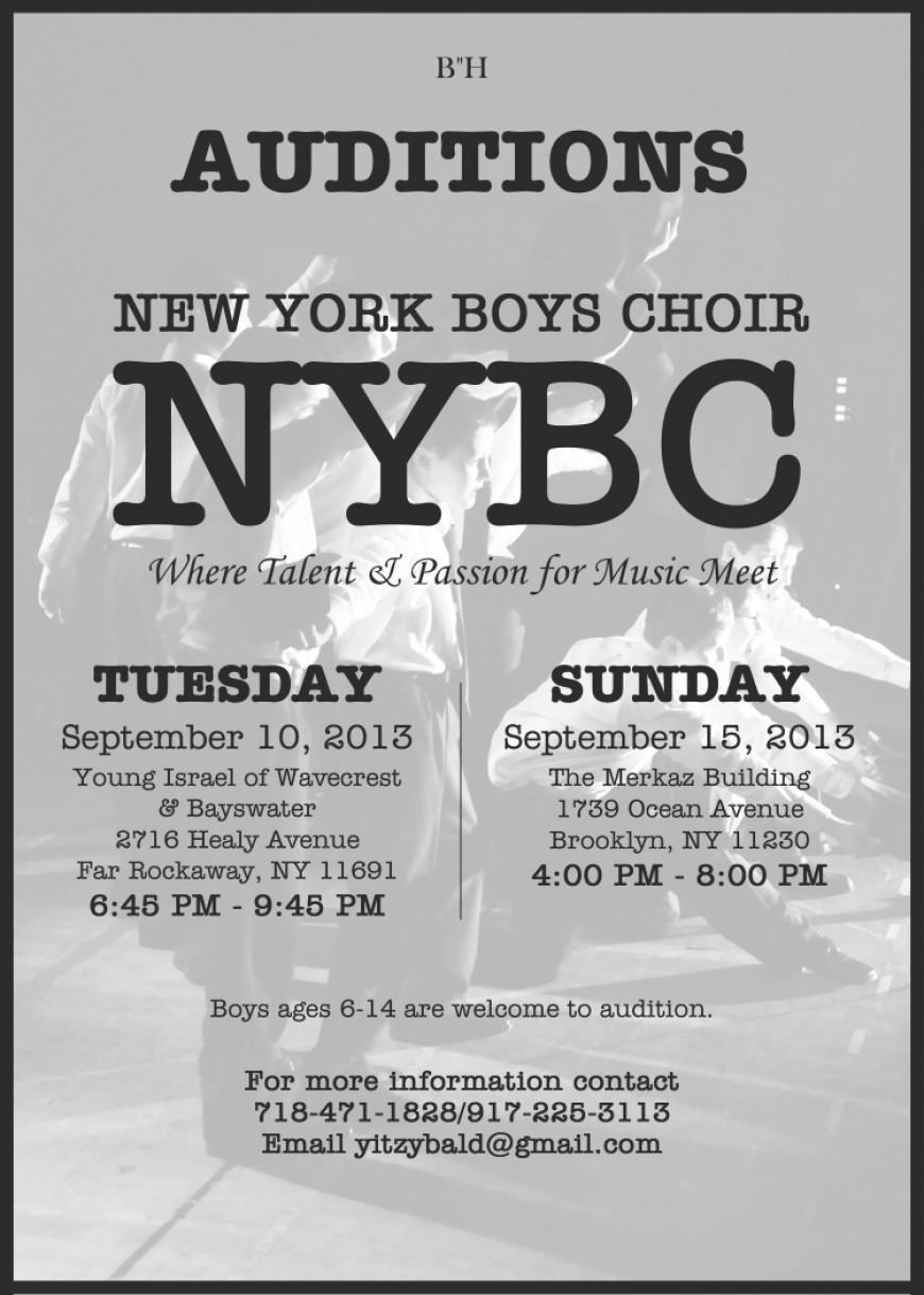 NEW YORK BOYS CHOIR AUDITIONS