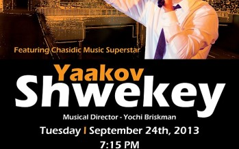 Succot Concert in Support of United Hatzalah With Yaakov Shwekey