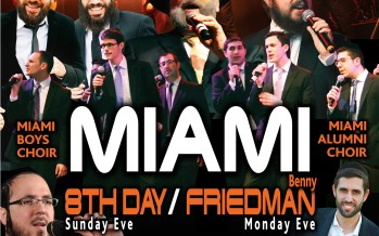 Miami Boys Choir Chol Hamoed Succos with Benny Friedman and 8th Day!