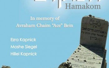 "Hillel Kapnick Releases ""Hamakom"" – In Memory of Ace Bein ZT""L"