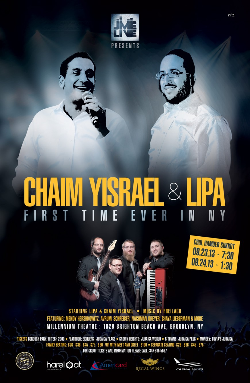 Chaim Yisrael & Lipa First Time in New York – Rehearsal VIDEO